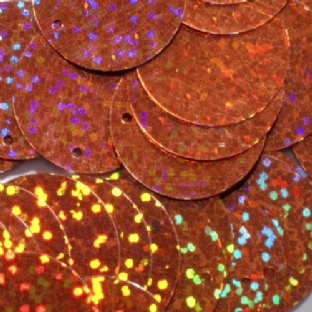 5mm Hologram Copper Flat Round Sequins x 15g